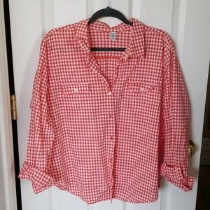 Old Navy red gingham button shirt XXL